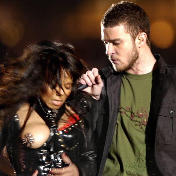 Perhaps the most famous stage-boob of all time, luckily Janet Jackson had thought to decorate her nipple before Justin Timberlake accidentally tore open her shirt at the 2004 Superbowl.