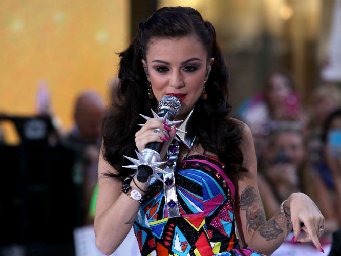 Cher Lloyd performing live as part of the Toyota Concert Series on 'Today' in New York City yesterday (30/08/12) [Credit: Ivan Nikolov/WENN.com]
