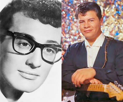 50 Years Ago: Three of music's brightest stars Ritchie Valens, Buddy Holly, J.P. 'The Big Bopper' Richardson and their pilot Roger Peterson die in a plane crash near Clear Lake in Iowa on February 3, 1959. Richardson was 28, Holly was 22 and Valens was just 17. The tragedy has since been dubbed 'The Day The Music Died'.