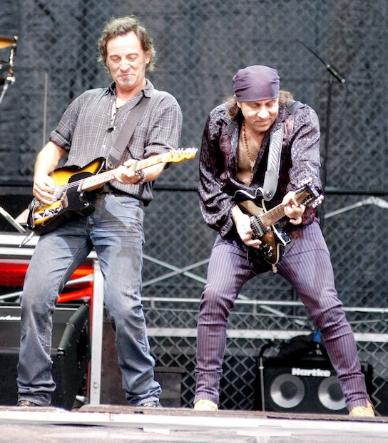 Bruce Springsteen and Steve Van Sant performing live Sports Stadium Kuip, Rotterdam, Holland