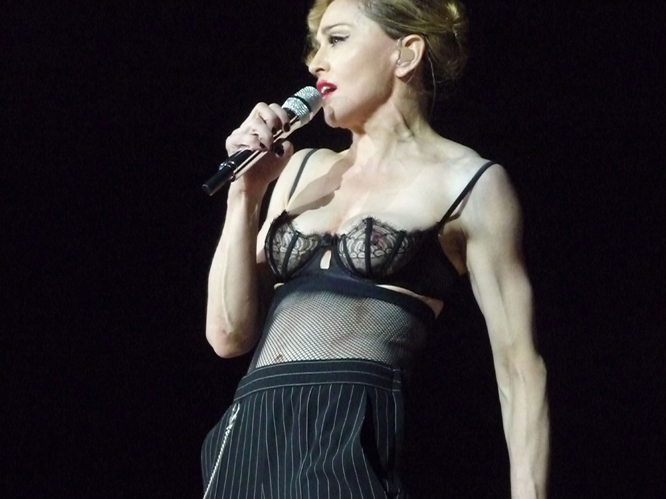 Madonna, 53 - Super-punishing work outs all the time; Strict diet; Machine(s) that reduce the effects of skin ageing: When Madge isn''''t being ''''outrageous'''' in front of uncontented fans, she''''s constantly working out.