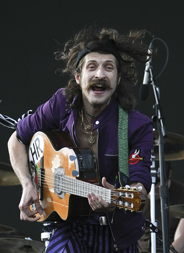 The Wackiest 'Tache in Rock At The Moment Award (Not an actual award) goes to: Eugene H�tz from Gypsy folk band Gogol Bordello.