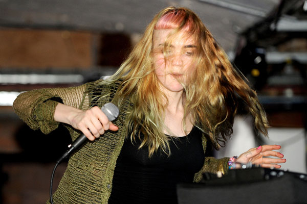 Grimes. Appearing @: Reading & Leeds.