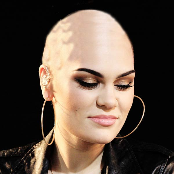 Jessie J: How she might look if she shaves her head. Are you SURE about this Jessie?