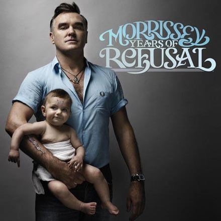 50. Morrissey: 'Years of Refusal' (2009) -  Taken by photographer Jake Walters, the image of Mozza holding a baby caused a stir when it was unveiled late last year. Like many Mozza album sleeves, it's a lasting image. Btw, the baby used is the son of Mozza's assistant tour manager Charlie Browne.