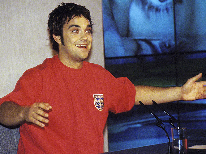 1995: Robbie quits Take That, gains 40lbs, drinks a lot and dabbles in drugs.