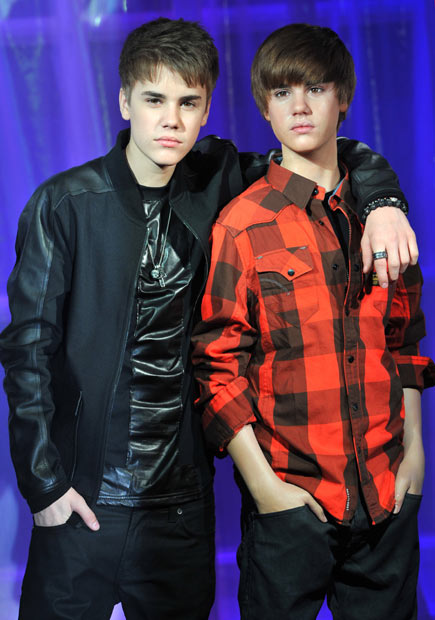 Justin Bieber at the launch of his new waxwork in London