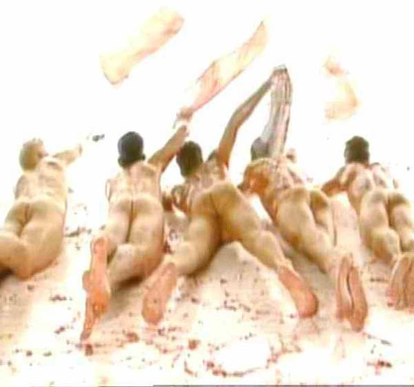 Take That's first ever single, 'Do What U Like' boasted cameo roles from the boyband's bums. Gary Barlow is on the left...