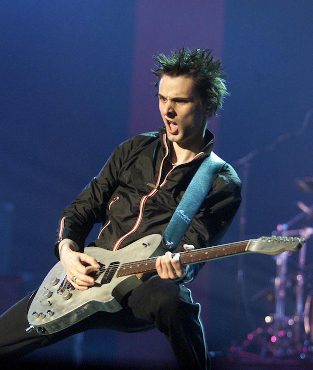 Muse frontman Matt Bellamy at the Meteor Ireland Music Awards at The Point, Dublin, in 2002.