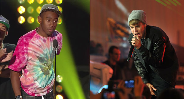 Tyler the Creator and Justin Bieber