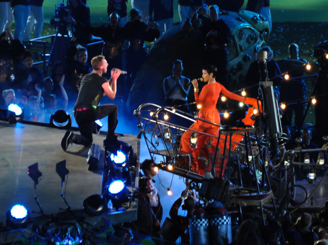 Paralympic closing ceremony feat. Coldplay, Rihanna and Jay-Z. London, 2012.