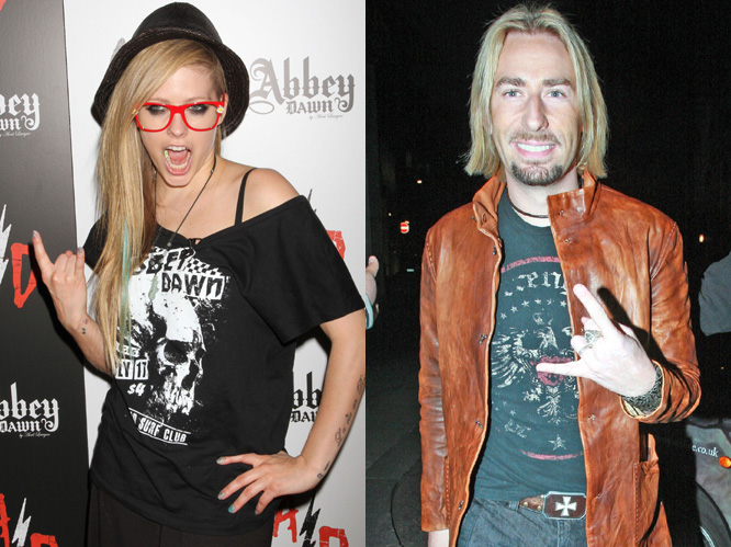 Chad Kroeger and Avril Lavigne: The Canadian couple met when they were working on a track for Lavigne''s latest album, and after dating for six months, got engaged in early August.
