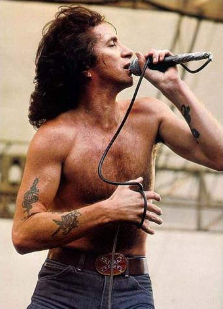 Bon Scott (AC/DC) - Tragic figurehead of the bands original line-up, complete with vocal chords unlike any other.