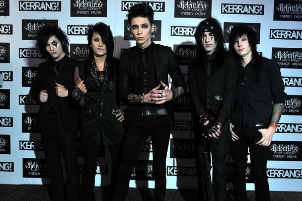 Black Veil Brides @ Kerrang Awards 2012
