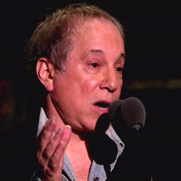 Paul Simon has suggested that Dylan's early work took over the folk genre ''Dylan's early songs were very rich�... with strong melodies. 'Blowin' in the Wind' has a really strong melody. He so enlarged himself through the folk background that he incorporated it for a while. He defined the genre for a while.''