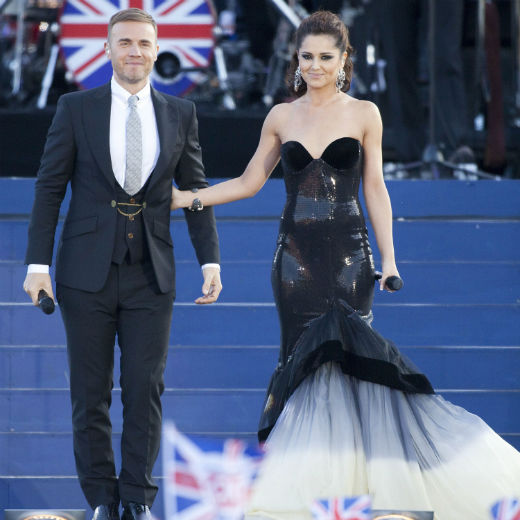 Gary Barlow and Cheryl Cole at Royal Jubilee Concert 2012. 
