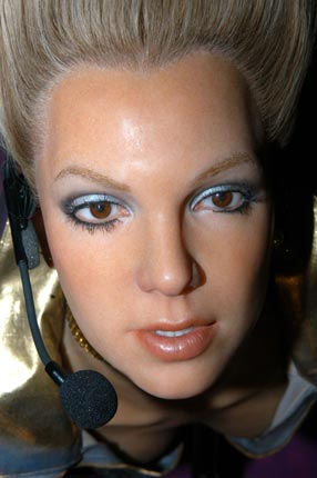 justin bieber waxwork. Britney Spears waxwork has