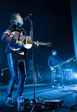 Coldplay peforming at London's Brixton Academy