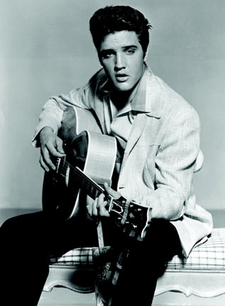 Elvis Presley before drugs – The strikingly good looking Elvis way back in his heyday in 1957
