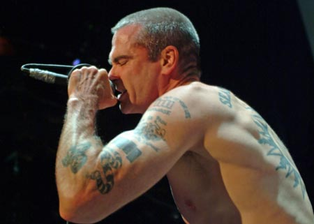 Henry Rollins – The ex Black Flag frontman has had a penchant for tattoos
