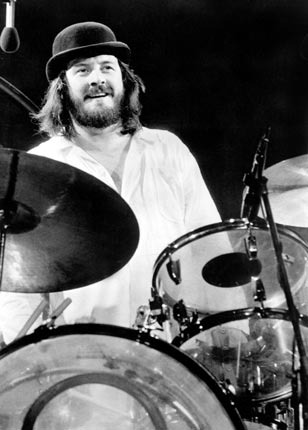 1. John Bonham of Led Zeppelin &#8211; What is there left to say about John Bonham that hasn&#8217;t already been said? Very much the heartbeat of the greatest rock act to have walked Planet Earth, his sheer dexterity, speed and sense for a groove has rarely been paralleled in the music world. More importantly, Bonham is the benchmark for any aspiring rock drummer to follow. Despite it being almost three decades since his death his legacy still remains. 
