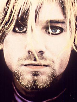 Kurt Cobain in the midst of drug addiction – The solemn, iconic image of the late music legend.