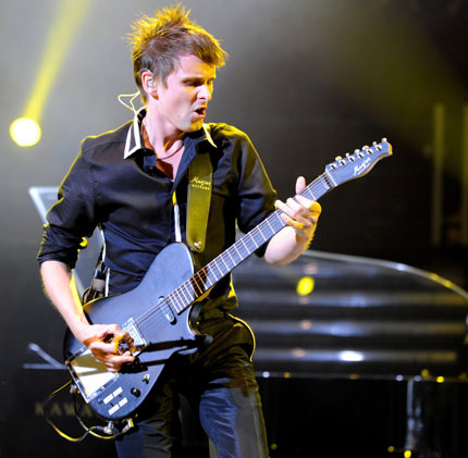 10. Matt Bellamy's Manson guitar – Admittedly it's not too much to look at, but this custom built guitar built by Hugh Manson alongside Bellamy is nothing short of genius. It has an array of gadgets and special features built in, so the Muse man can concoct his voluminous sound live on stage.