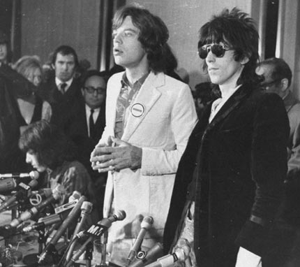 Mick Jagger & Keith Richards - Mick and Keef spent a night in prison after being convicted of drug offences in 1967. They were bailed the next day and after appeal Richard's sentence was quashed and Jagger's reduced to a conditional discharge.