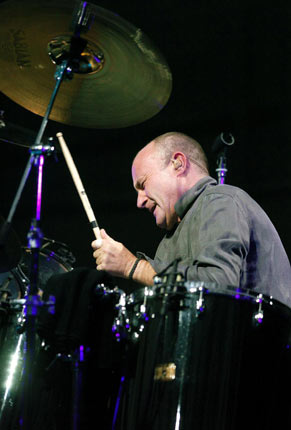 10. Phil Collins of Genesis - Bringing his stark, futuristic drumming to Genesis helped make them the prog-giants they still are today, and his work with percussion of myriad forms on 1981 solo debut 'Face Value' brought him true superstar status on both sides of the Atlantic. But everyone knows that chocolate ad gorilla was miles better.