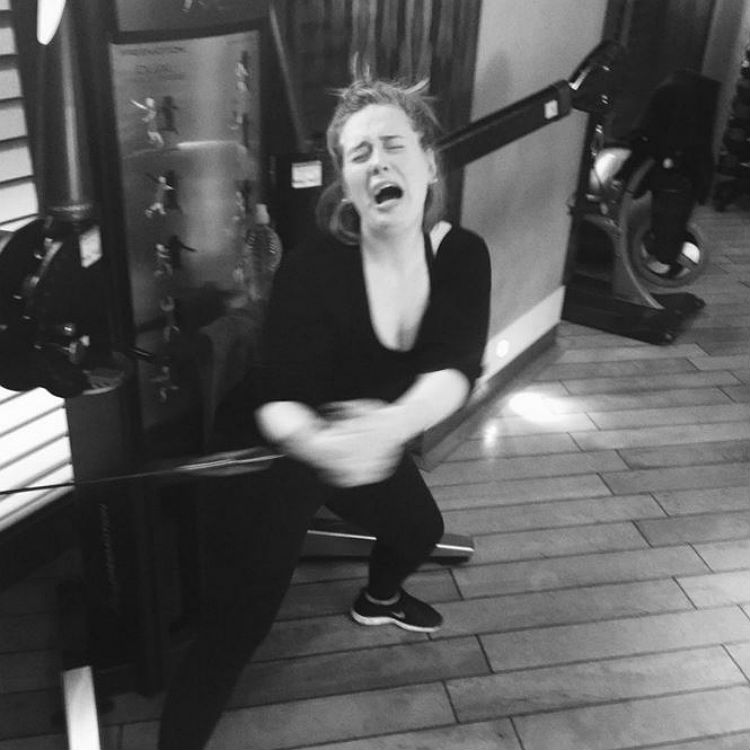 Adele gym Twitter photo, interview on weight loss