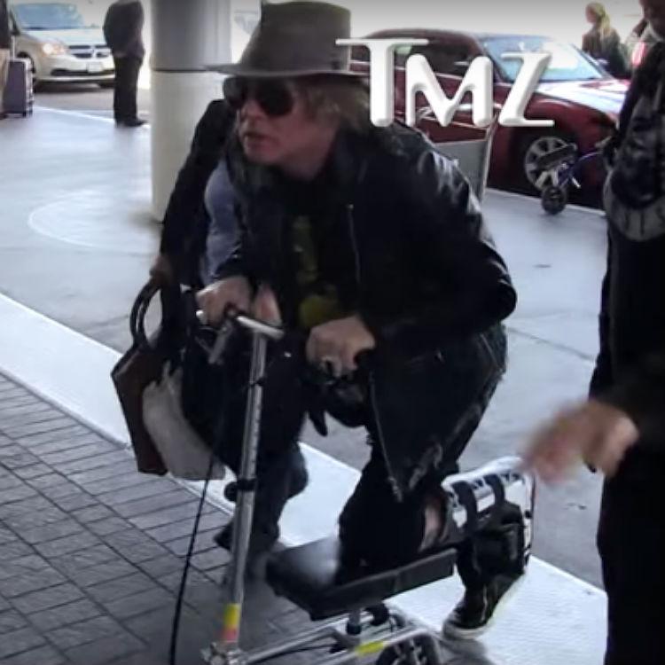Axl Rose awkward Guns N Roses reunion tour interview, AC/DC, scooter