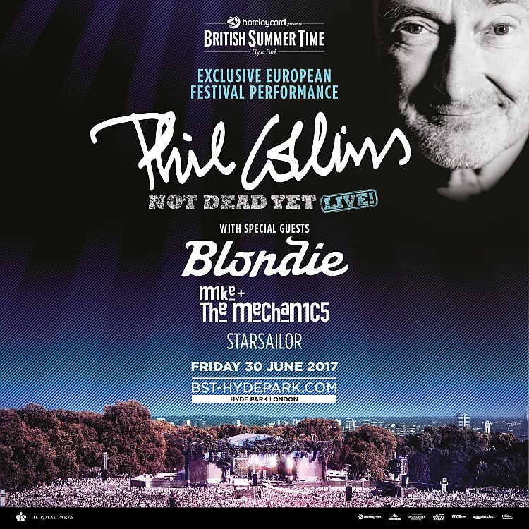 Blondie, Mike and the Mechanics to support Phil Collins at BST show