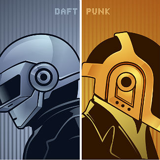Daft Punk tour posters: brilliant (unofficial) new art