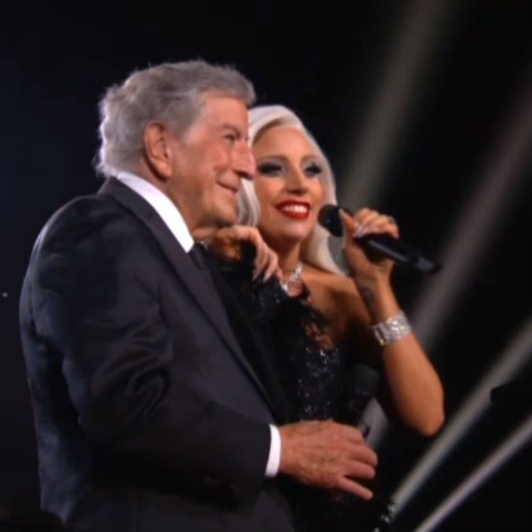 Lady Gaga and Tony Bennett Cheek To Cheek at the Grammys video