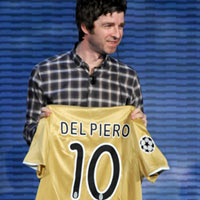 Oasis Presented With Signed Alessandro Del Piero Shirt On Italian TV