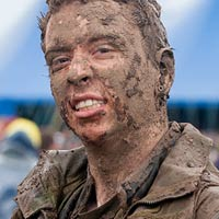 The muddiest, messiest festival goers at Download 2012