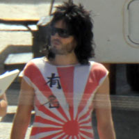 Russell Brand Channels Nikki Sixx As Katy Perry Visits Film Set