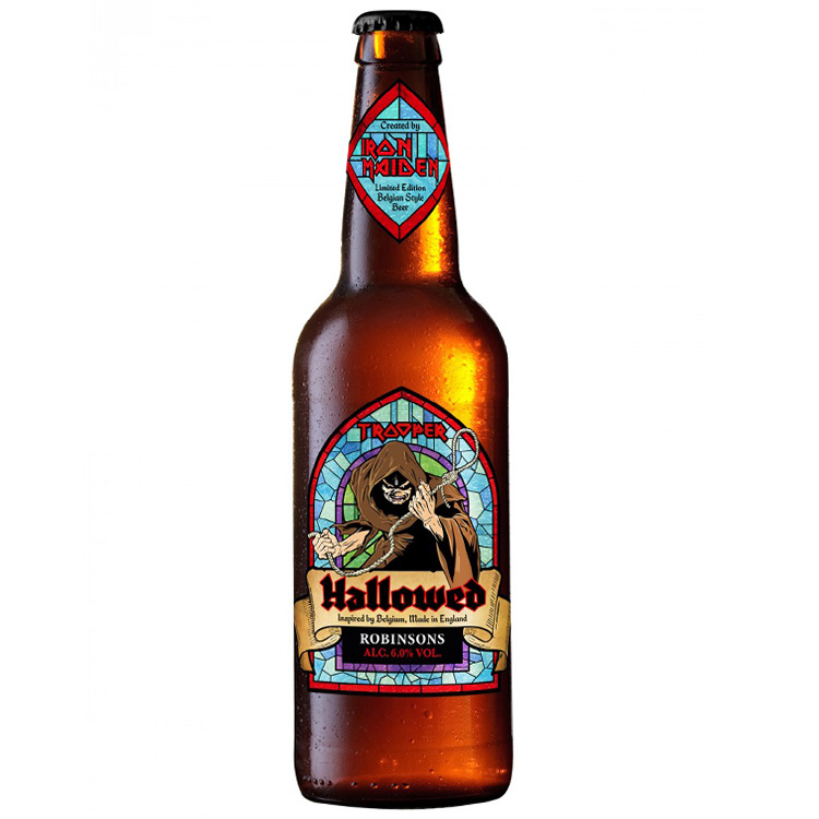Iron Maiden Belgian beer Hallowed Robinson's Brewery Bruce Dickinson