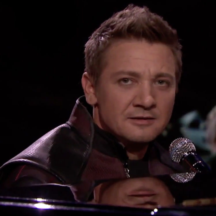 Hawkeye sings to Thinking Out Loud by Ed Sheeran video