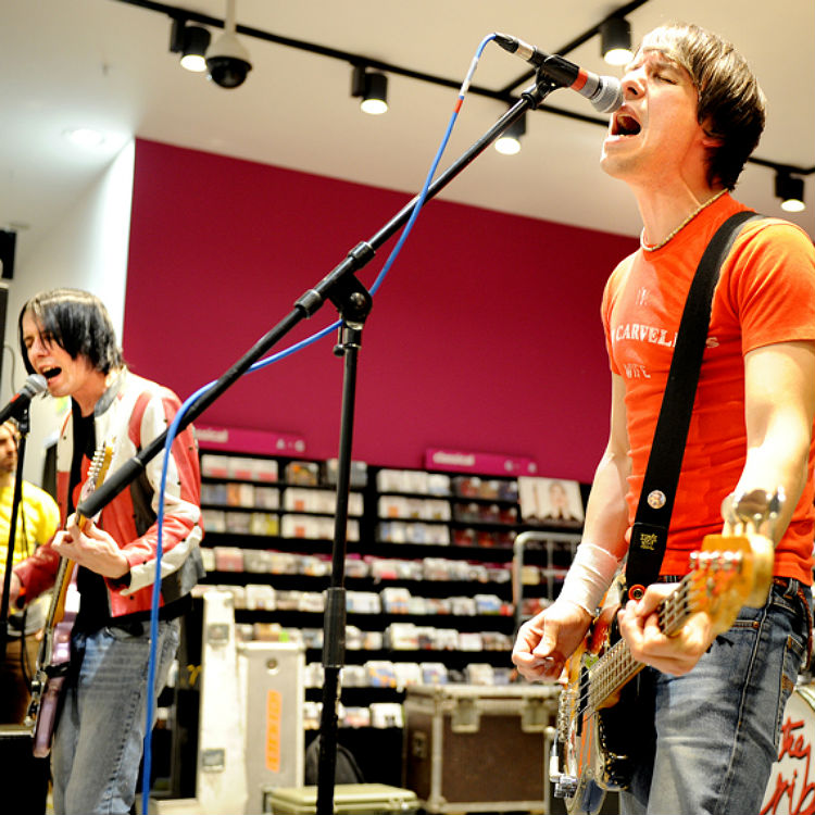 28 candid photos of The Cribs' signing and gig at HMV Manchester