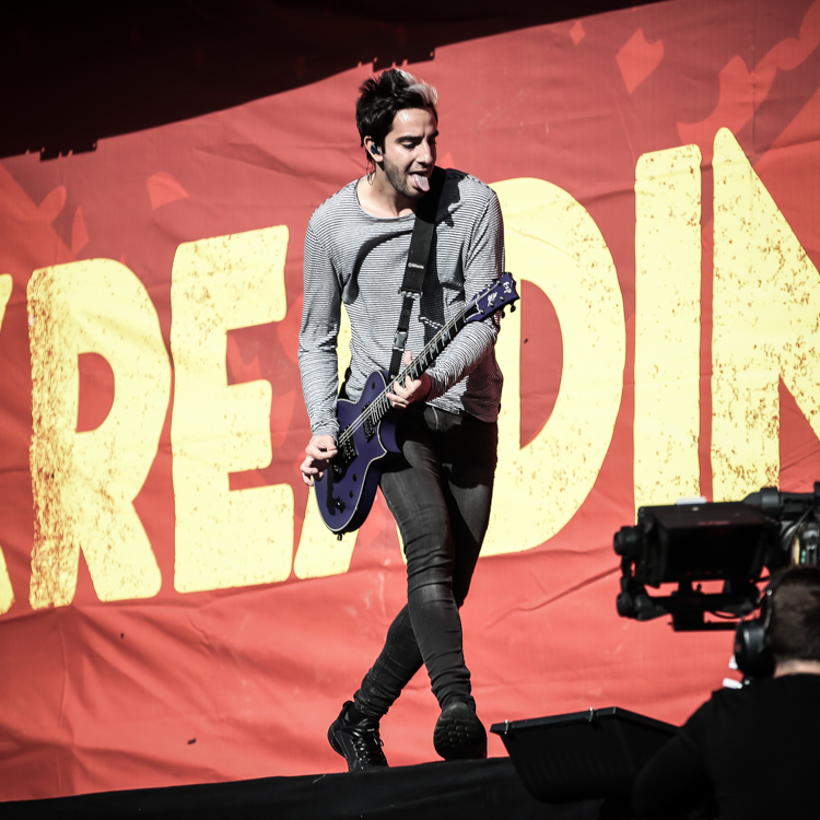 All Time Low live gig photos, Reading Festival 2015