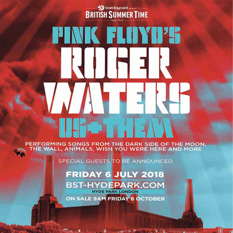 Roger Waters Us + Them Pink Floyd British Summer Time Hyde Park