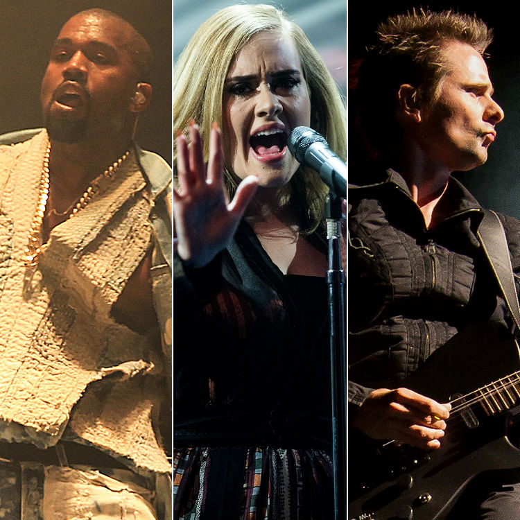 2015 year in music highlights reviewed - Adele, Coldplay, Bieber, Muse