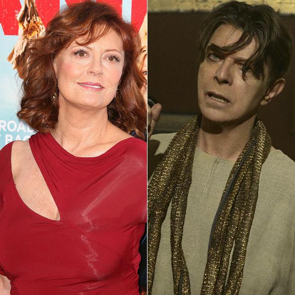 Susan Sarandon Nominates David Bowie For Ice Bucket