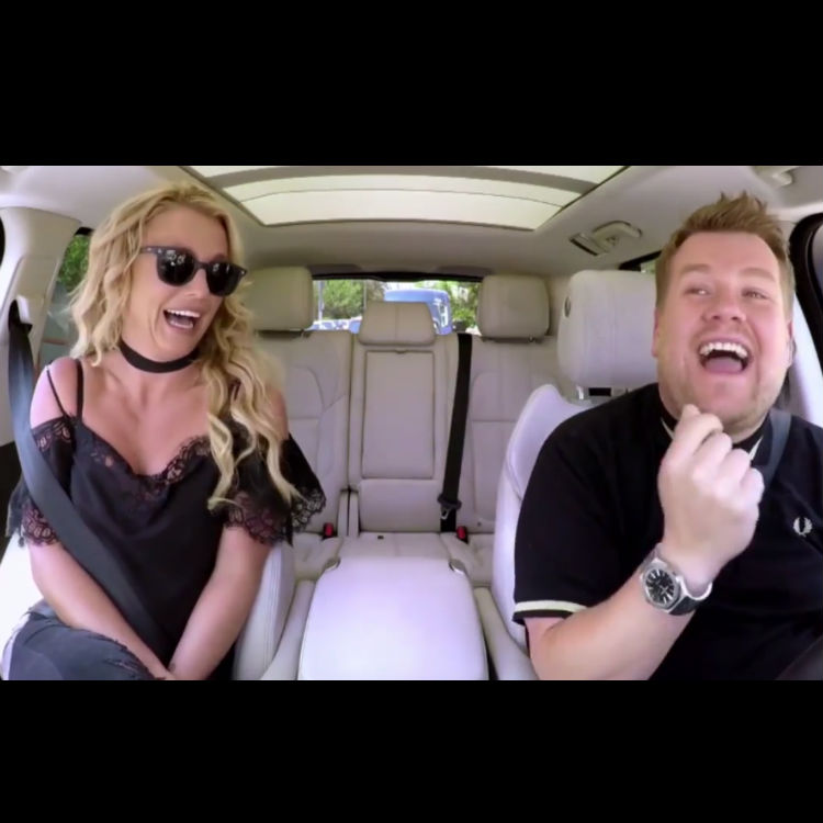 Britney Spears lip-syncing accusations in Carpool Karaoke trailer