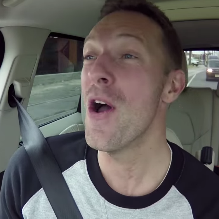 Chris Martin Carpool Karaoke James Corden super bowl NFL