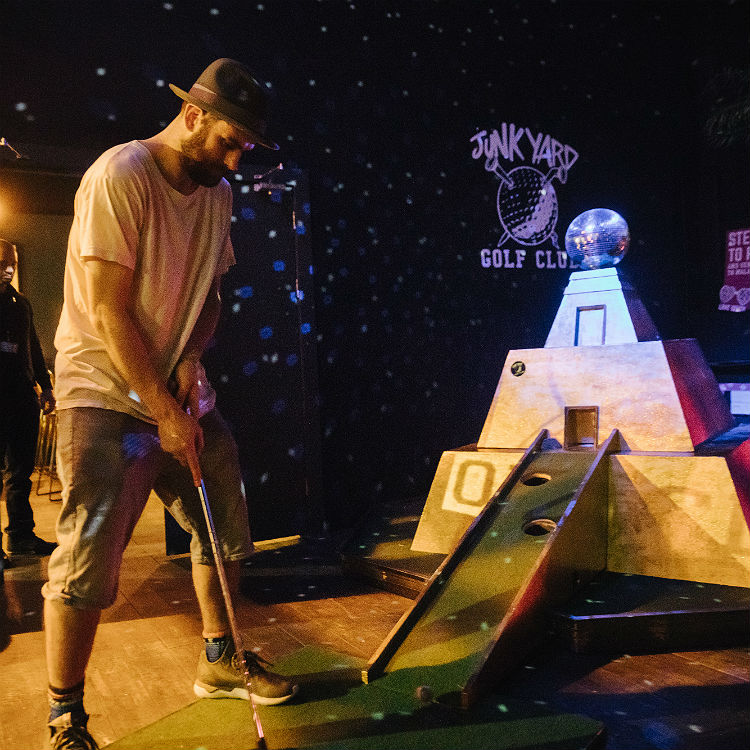 Playing crazy golf and talking politics with Rudimental