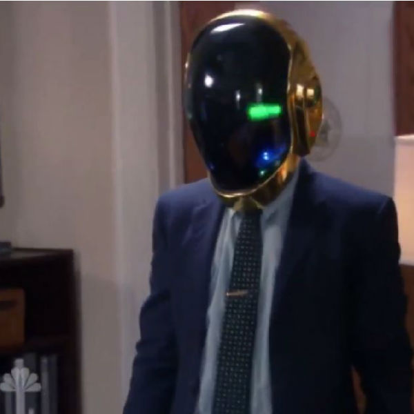 Daft Punk come to Pawnee as helmet appears in Parks + Rec