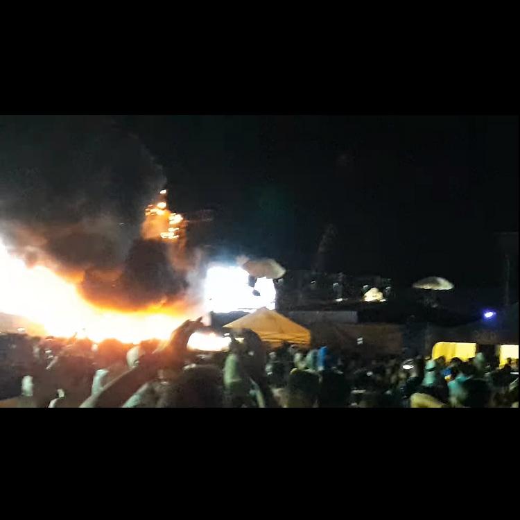 Fire breaks out UNITE with Tomorrowland dance festival in Barcelona