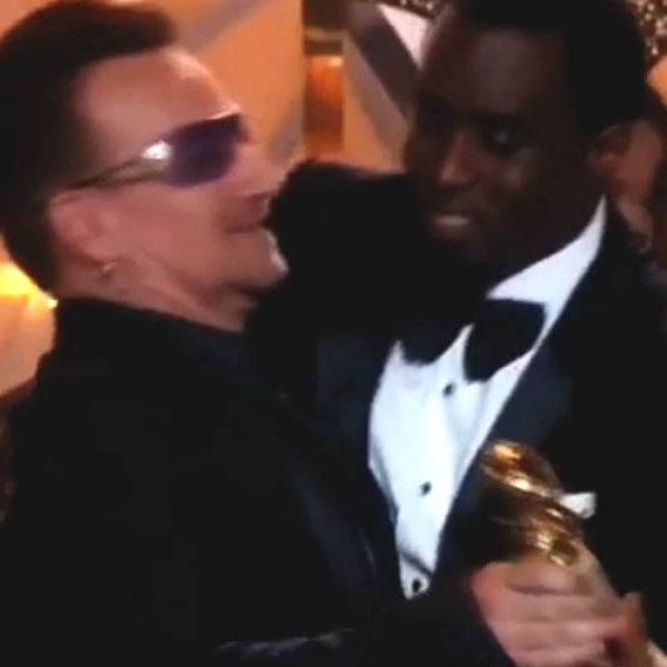 Video: P Diddy and Bono hug at Golden Globes ends in awkward fail